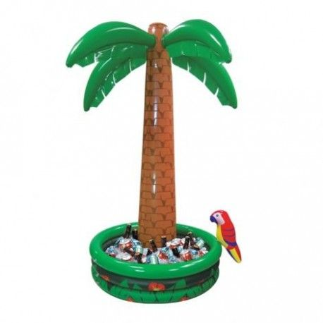 Palmier gonflable cooler déco hawai pour créer une ambiance tiki bar