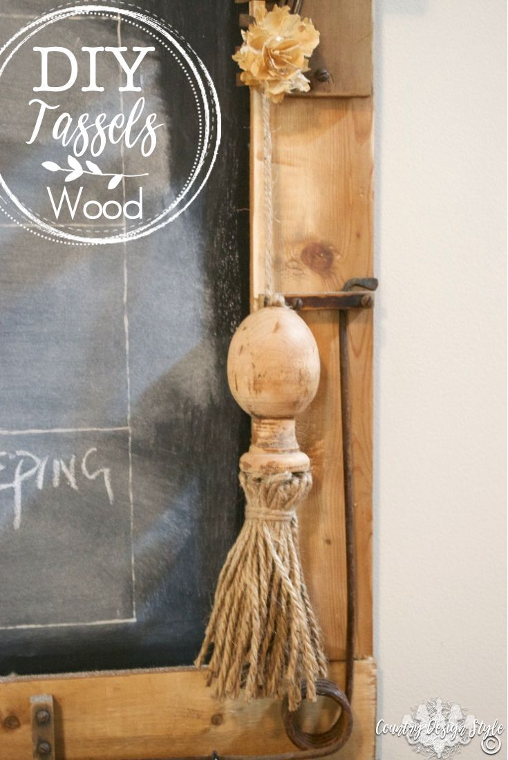 Best How To Turn Chunky Wood Spindles Into Diy Tassels 400 x 300