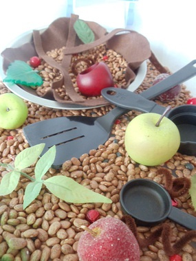 Delicious apple pie sensory Contained Exploration Learning System.