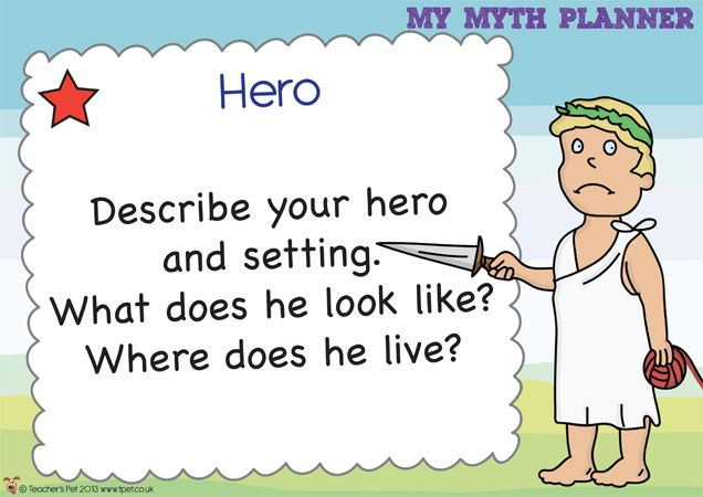 Teachers Pet - How to Plan a Myth Posters - FREE Classroom Display Resource - EYFS, KS1, KS2, myths and legends, ancient greece, greeks, romans, vikings, traditional tales, invaders and settlers