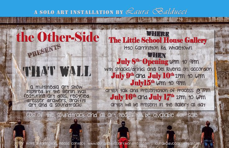 Art Show Announcement - Cortes Island  I have 2 solo art shows coming up this Summer.In Powell River and Cortes Island B.C.Canada.The Other-Side presents That Wall consists of art dolls,graffiti art and a sound track.