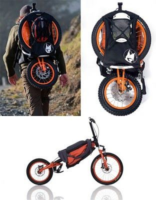 Folding Backpack Bicycle by Bergmonch