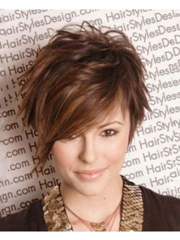 Capless Short Straight Synthetic Brown Wig