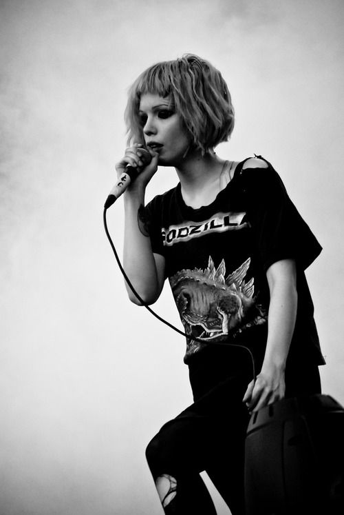 Alice Glass of Crystal Castles. I've been listening to them for like three days straight.