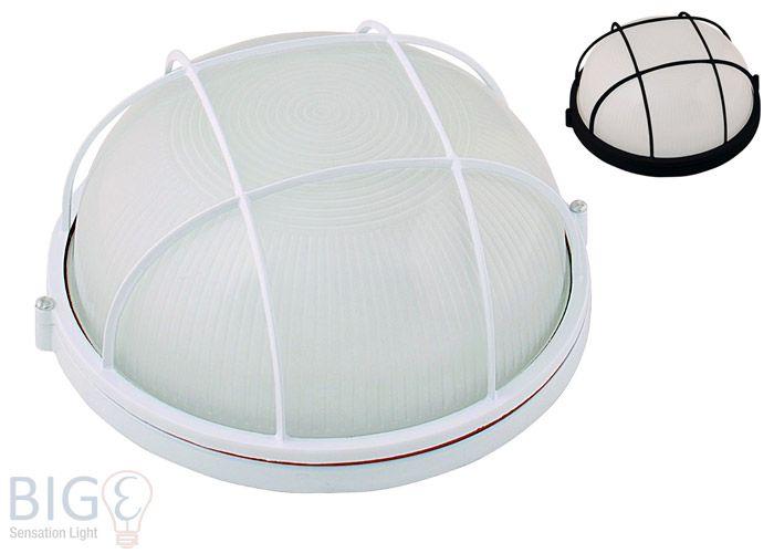horoz sicherheitsleuchte ip54 bulkhead gross weiss oder schwarz au enlampen led oder halogen. Black Bedroom Furniture Sets. Home Design Ideas