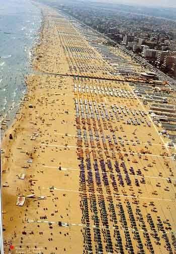 Rimini Beach, Riccione, Italy -- known for its nightlife