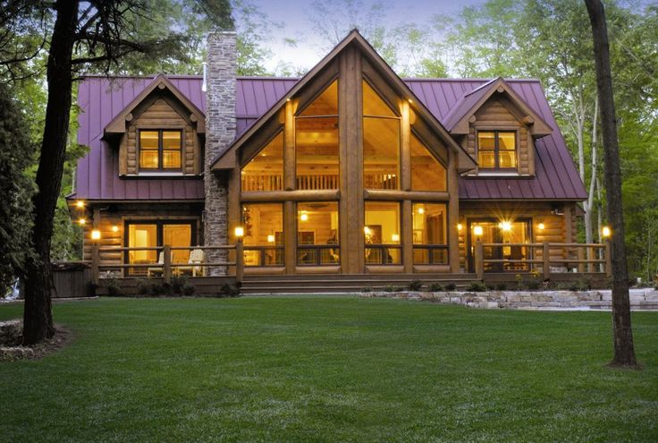 Log Cabin Home Ideas | Wisconsin Log Homes- Alpine Meadow II | floorplans | Log Cabin Homes