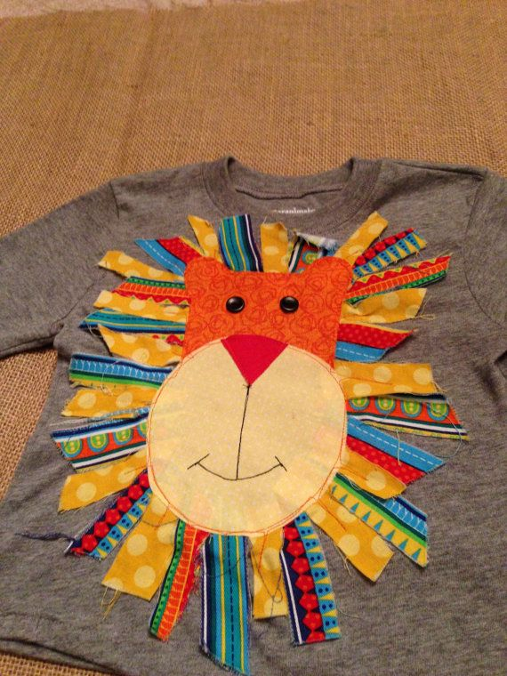 Lion Head Circus Applique Shirt by harperhewitt on Etsy, $24.00