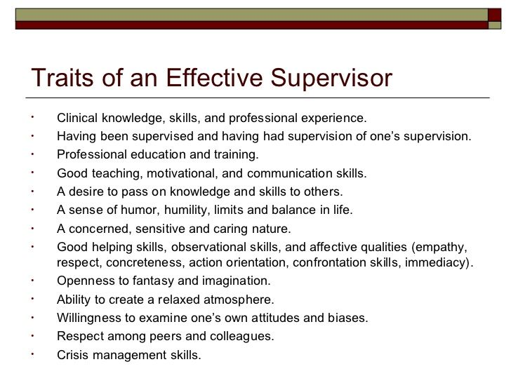 18 what are some important qualities of a good supervisor boss what are