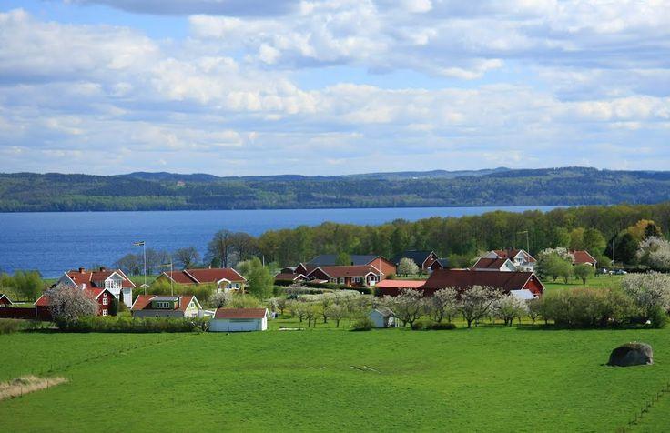 Spectacular view from Kumlaby church, Visingsö, Sweden