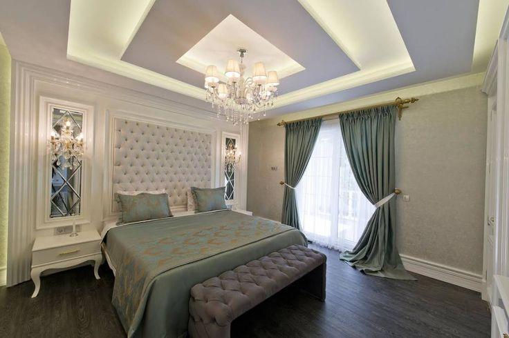 Ümit Aslan Villası Kemer : Modern Yatak Odası VRLWORKS HAYALİMDEKİ YATAK ODASI