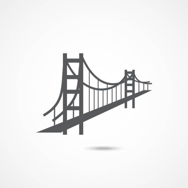 Golden Gate Bridge Icon On White Background Bridge Icon Bridge Tattoo Golden Gate Bridge Drawing