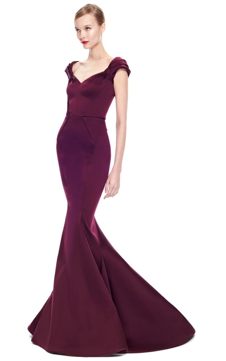 Z spoke zac posen red dress vector