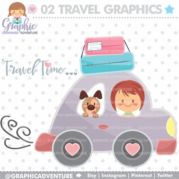 75%OFF - Travel Clipart, Travel Graphics, Clip Art, COMMERCIAL USE, Kawaii Clipart, Road Trip Clipart, Planner Accessories, Travel Party