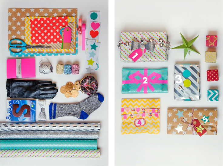 Het HEMA Design team besloot laatst de Sint een handje te helpen en heeft cadeautjes ingepakt met tape, stickers, lintjes, cadeaupapier en -zakjes van HEMA.