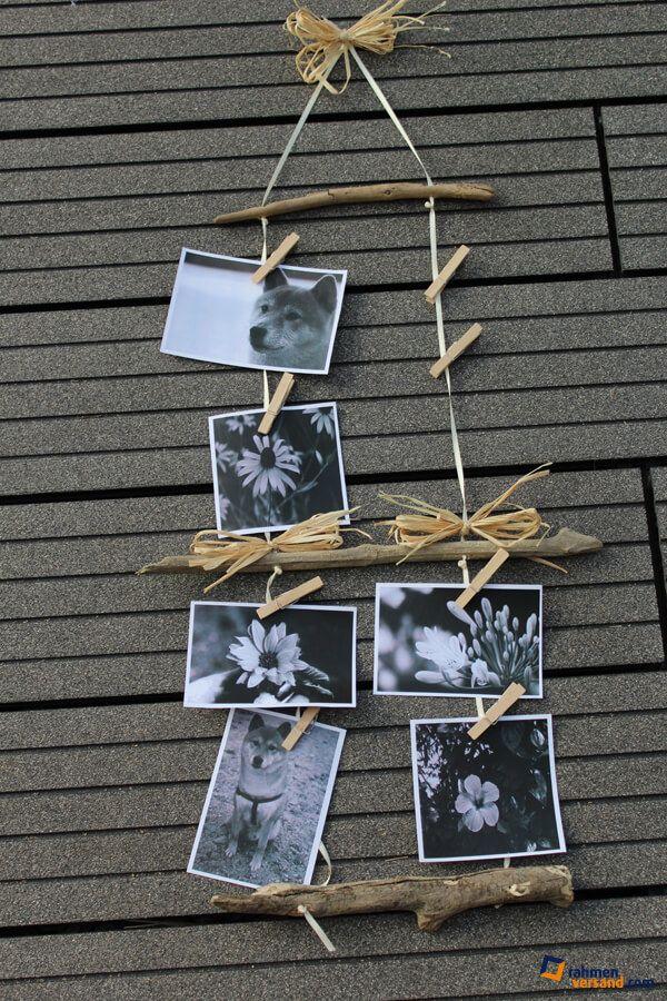 DIY: Bilderrahmen mit Naturmaterialien basteln - Handmade Kultur
