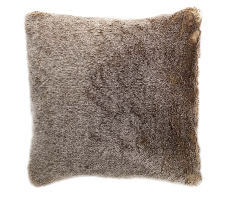 Bring a touch of luxury to your home with this sumptuous brown faux fur cushion. Priced at £15. #sainsburys #autumndreamhome