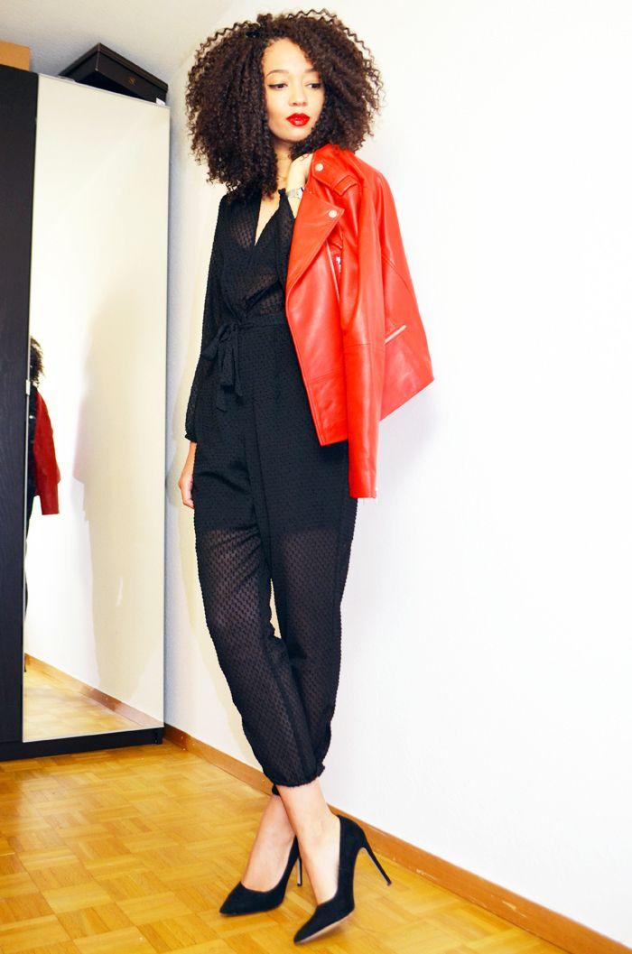 1.2.3 Paris - Priscilla du blog @mercredie porte la veste en cuir Vela printemps-été 2016 #123paris #streetstyle #ootd #mode #fashion #shopping #blogueuse #blogger #blogueusemode #fashionblogger #printemps #spring #été #summer #cuir #leather #rouge #red