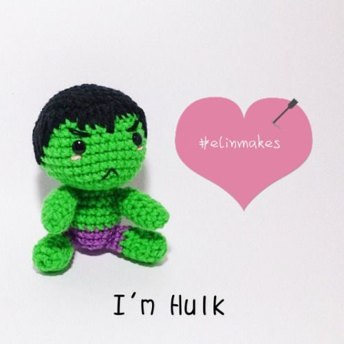 The incredible Hulk amigurumi
