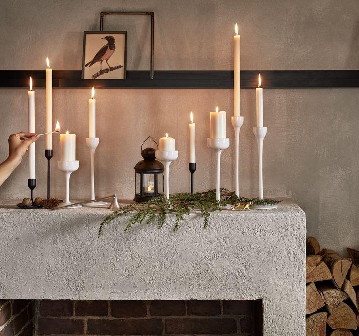 Kerzenhalter 3 St. BLOMSTER weiß