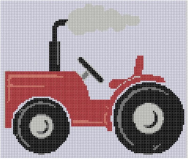 Tractor 6 Cross Stitch Pattern