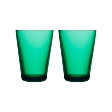 iittala Kartio 2li Cam Bardak-40 cl Emerald
