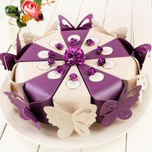 Бабочка бумаги конфеты коробка подарка для свадьбы день рождения чаепитие фавор(China (Mainland))
