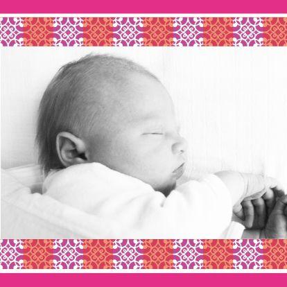Stijlvol geboortekaartje met foto - Geboortekaartjes - Kaartje2go