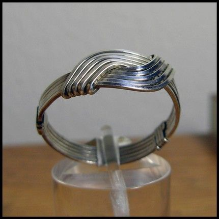 Love Knot Ring - Unisex - Sterling Silver Wire Wrapped