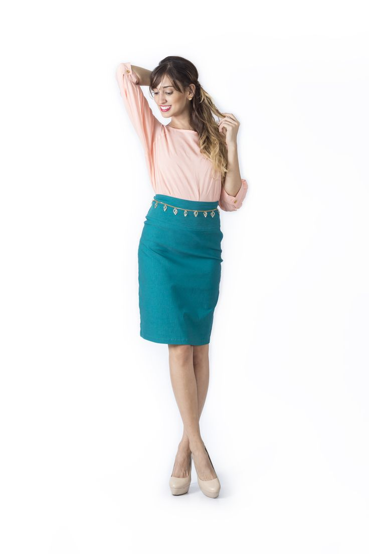 Bosque Paraíso Collection REF: BLOUSE BL0005, SKIRT FA0005  SIZE: XS-1W Material blouse: Viscose /100 .Material skirt: Drill- rayon viscose/polyamide /spandex 77/20/3 Colors Blouse: Rose,white, black, mint,fuchsia. Colors Skirt: black, white,red,green jade.
