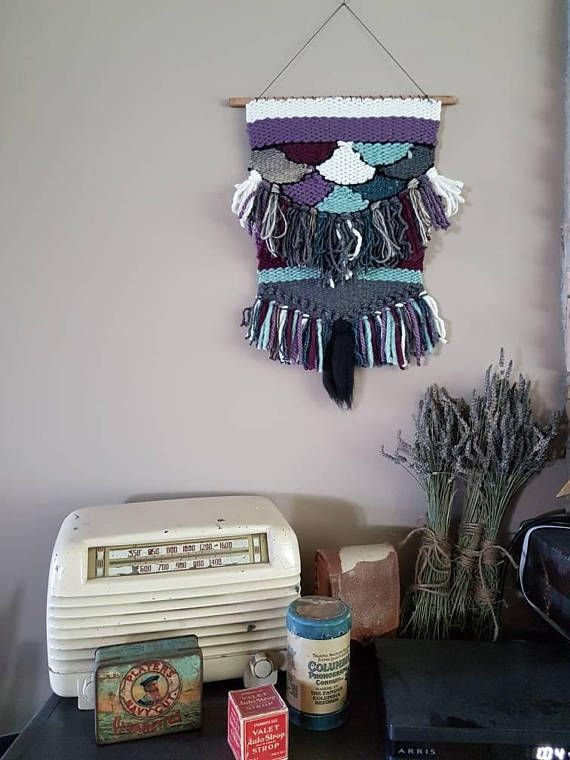 Check out this item in my Etsy shop https://www.etsy.com/ca/listing/554241428/small-woven-wall-hanging-the-mermaid