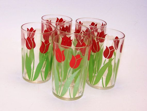 Vintage juice glasses Set of 6