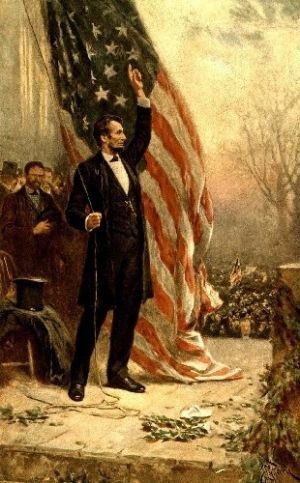 Abraham Lincoln and the American Flag I am an American. An american like Lincoln was an American.