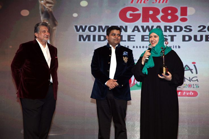 """#GlobalAdvertisers goes overseas with #GR8WomenAwards - #MiddleEast  Honorable MD #SanjeevGupta presenting an #award & felicitating Azza Al Qubaisi for her contribution in """"Entrepreneur encouraging Philanthrophy Activities"""" at Sofitel The Palm, Dubai"""
