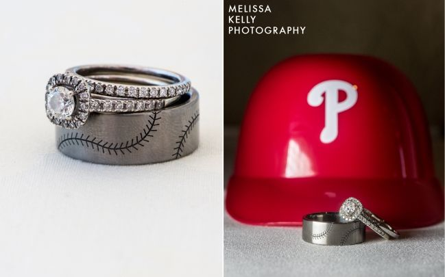 baseball wedding band -- perfect for a philles fan!