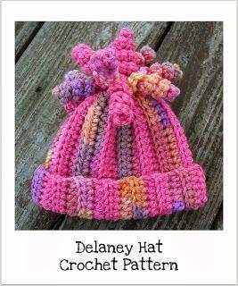 CrazySocks Crochet: CROCHET PATTERN - Delaney Hat ❥Teresa Restegui http://www.pinterest.com/teretegui/❥