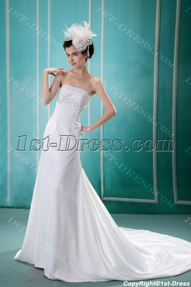 132 best A-line Wedding Dresses images on Pinterest | Short wedding ...
