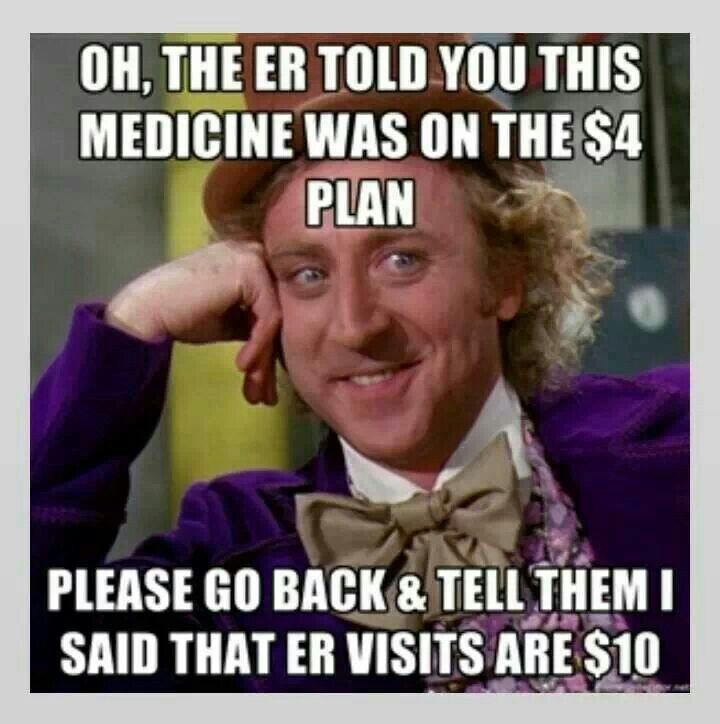 Doctors know all your co-pays, psh