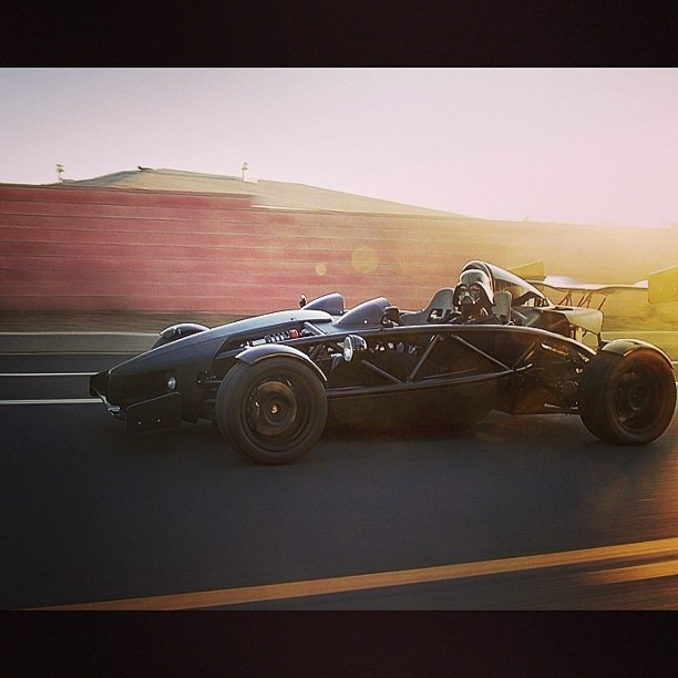 When he's not destroying planets. Darth Vader loves a bit of motorsports #ArielAtom