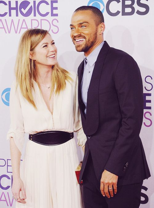 Ellen pompeo and Jesse Williams
