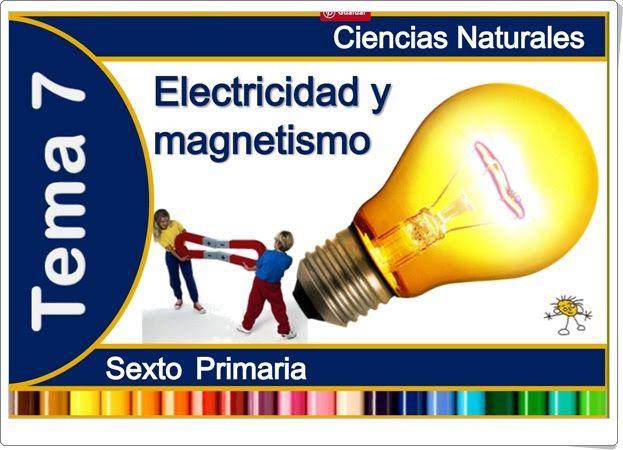 """Unidad 8 de Ciencias de la Naturaleza de 6º de Primaria: """"La electricidad y el magnetismo"""""""