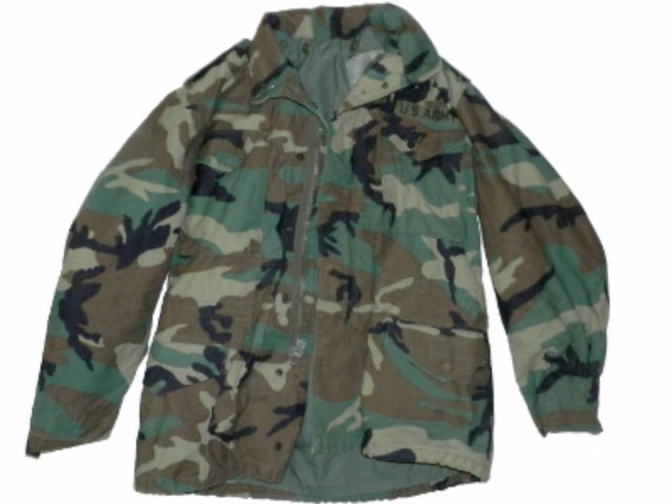 US Army Vtg BDU Woodland Camouflage Military Field Jacket Coat Cold Weather Sz M | Collectibles, Militaria, 1976-89 | eBay!