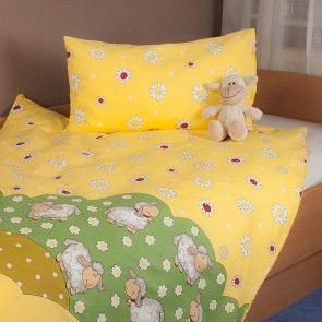 Schäfchen Gelb Bärchen Bettwäsche Für Baby´s Und Kleinkinder