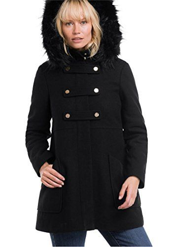 c8356e916a6 Product review for Ellos Women s Plus Size Faux Fur Wool-Blend Coat. - The