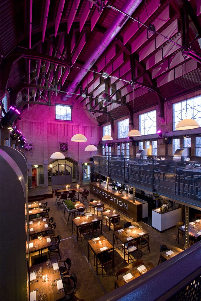 Pompsation amsterdam, industrial place to wine & dine with some really good grilled steaks.