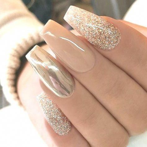 Acrylic Nails Chrome Glitter Acrylics are fake nails placed over your natural on…