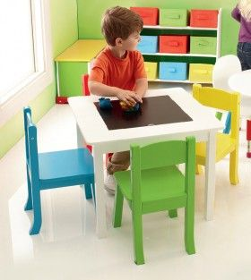 Tinkers Drawing Table and Four Chairs^