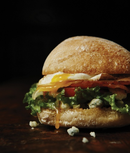 Fried Egg Sandwich With Bacon And Blue Cheese Recipes — Dishmaps