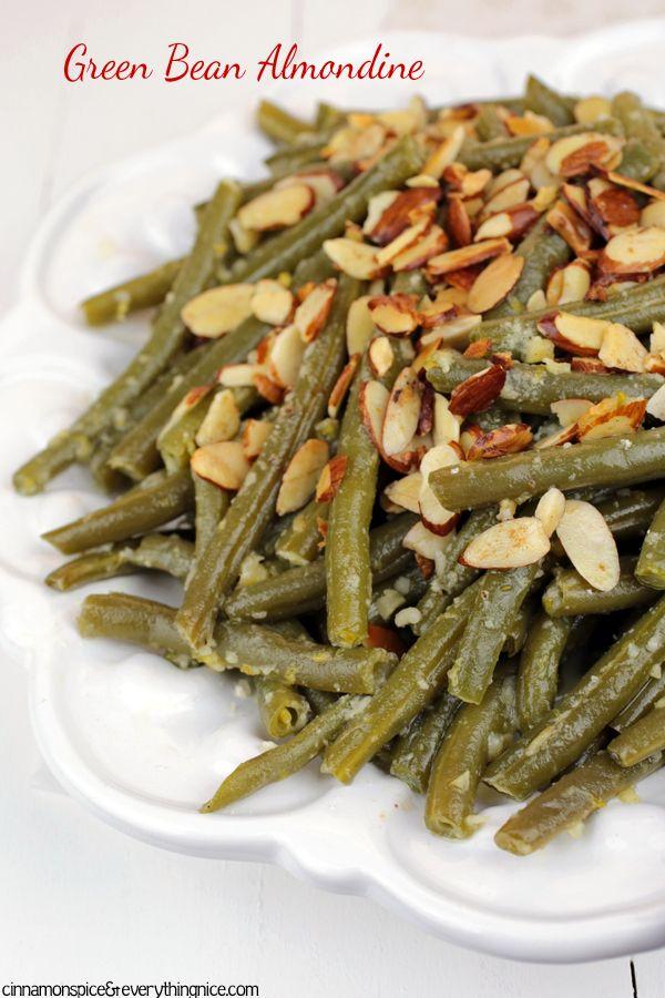 Parmesan Garlic Green Bean Almondine #recipe