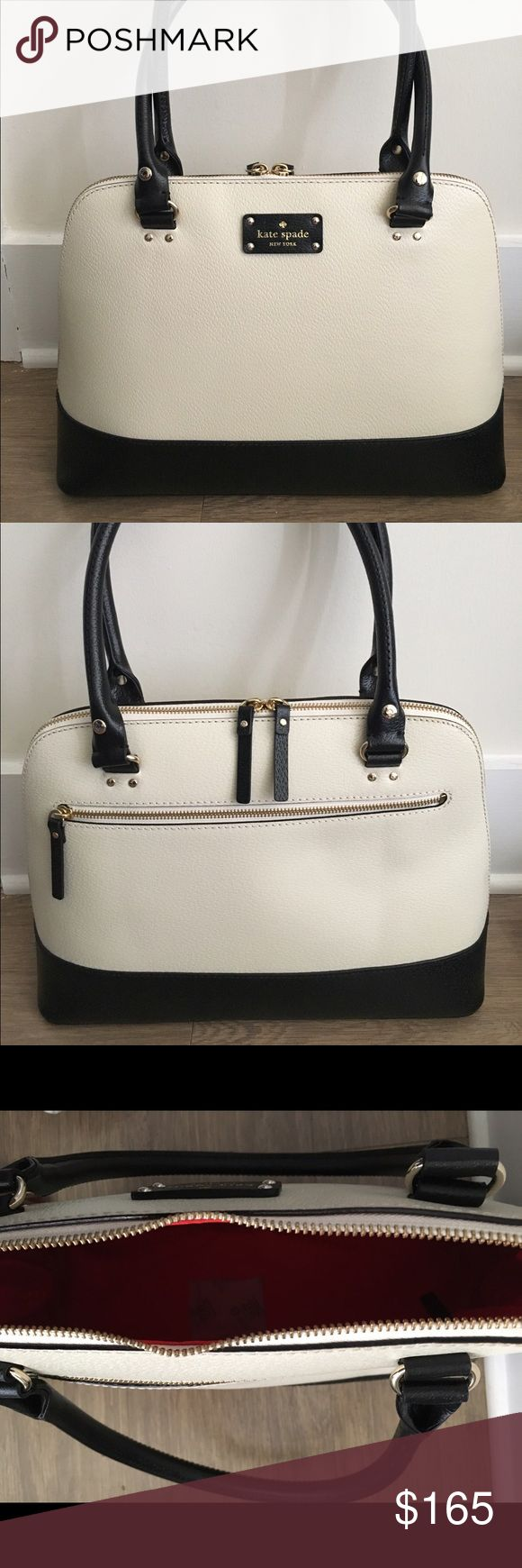 Kate Spade Cameron Street Margot Black/White Brand new Kate Spade Cameron Street Margot Handbag. Gold embossed signature with zipper closure and double side pockets. kate spade Bags Satchels